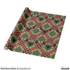Plaid Deer Antler Wrapping Paper http://www.zazzle.com/plaid_deer_antler_wrapping_paper-256057655036428360?CMPN=shareicon&lang=en&social=true&view=113285123990728653&rf=238588924226571373