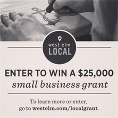 Last chance! Submissions for our $25K grant contest are due by tomorrow 9/9! Do you know a maker, designer, or artist who could use a small business grant? Tag them here! Link to entry form + rules in profile. #westelmlocal