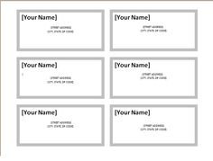 Printable Address Label Template For A Envelopes  Return Address