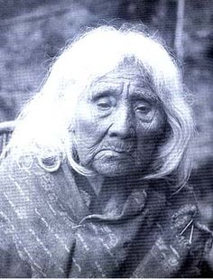 Mary Louie, a medicine woman of the SNOQUALMIE Indian Tribe, ca. 1900, SALISH peoples from the Snoqualmie Valley.  Some Snoqualmies settled onto the Tulalip Reservation after signing the Point Elliott Treaty with the Washington Territory in 1855, but many remained in their ancestral homelands around the Snoqualmie Valley and Lake Sammamish. In those days one of the largest tribes.