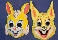 vtg 2 Halloween BUNNY RABBIT MASK Boy & Girl USED Shipping INCLUDED Costume Antique Toys, Vintage Antiques, Halloween Masks, Bunny Rabbit, Pikachu, Boys, Fictional Characters, Art, Baby Boys