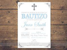 invitaciones de bautizo invitacion bautizo por LaminitasPrintables