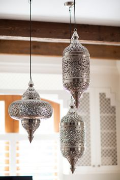 These moroccan lamps are really pretty and will look great with the rest of the room.