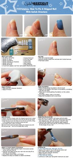How To Fix A Chipped Nail With Gelish Structure Tutorial by Gelish Geekery