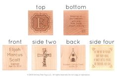 A stunning heirloom baptism gift for little girls and boys - personalize this six-sided, solid hardwood block for a truly unique keepsake. Gorgeous handcrafted