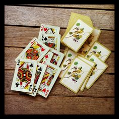 vintage deck of playing cards