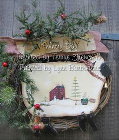 Wintry Day, by Lynn Barbadora, email pattern packet by PaintingWithFriends on Etsy