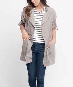 Look what I found on #zulily! Gray Hooded Anorak #zulilyfinds