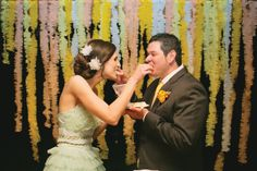 ruffled pastel cake backdrop | Gracie Blue #wedding