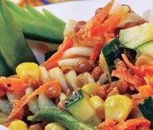 Salade estivale de lentilles Fruit Salad, Vegetarian, Mince, Chicken, Meat, Marriage, Drinks, Food, Pasta Salad