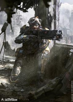 Black Ops III - Prophet, karakter design studio on ArtStation at https://www.artstation.com/artwork/93RWv