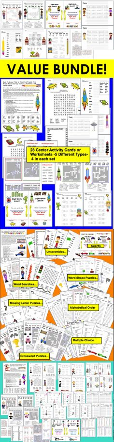 Sight Words VALUE BUNDLE Center Cards - 174 Page Download...  140 Center Cards Divided into 5 Levelized Sets OR Duplicate as Worksheets... ALL 5 INDIVIDUAL PRODUCTS HAVE 4.0 RATING!    240 Dolch Words -  All 220 Words Plus 20 Dolch Nouns