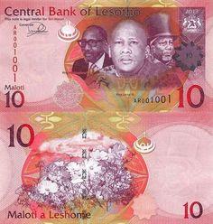 Lesotho 10 Maloti 2013