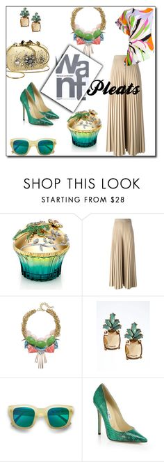 """""""Pleats, Please"""" by indie-nesya ❤ liked on Polyvore featuring Moschino, House of Sillage, Givenchy, Gemma Redux, Gap, Banana Republic, Acne Studios, Jimmy Choo and Emilio Pucci"""
