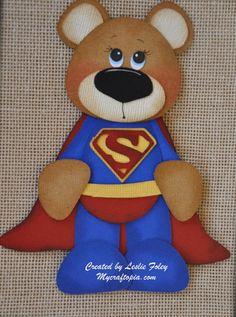 Superman Bear Premade Scrapbooking Embellishment by MyCraftopia, $4.95