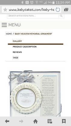 Baby Heaven ornament