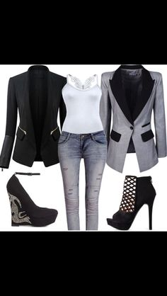 Black and gray