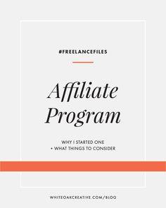 how to start an affiliate program for your online business | blog design, wordpress guide, graphic design, blog theme, blog tutorial, freelancing, entrepreneuer