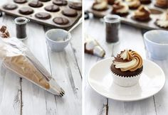 How to Pipe with Two or More colors of Frosting via @Katie Goodman