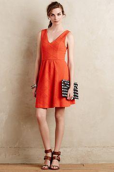 Textured Double-V Dress #anthropologie