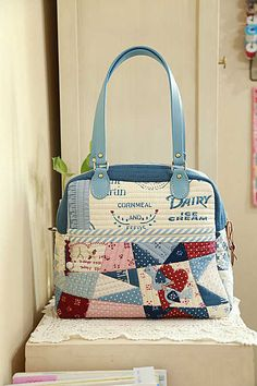 Quilted bag. Can use PU handle for this.