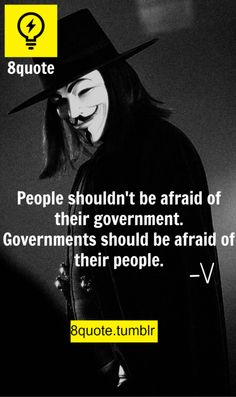 V For Vendetta Quotes V For Vendetta Quote Anonymous  Pinterest  Vendetta Quotes .