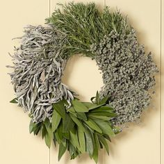 Herb wreath. Useful in the kitchen as it dries. Beautiful. Wonder if I can make my own for cheaper...