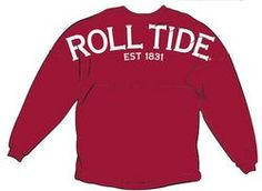 What's the hottest trend on College Campuses right now?! It's spirit jerseys! This soft, uniquely designed Bama shirt makes a great addition to any University of Alabama womens apparel collection.
