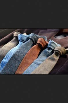 Beautiful wool ties