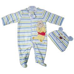 f958697863c5 Cute Winnie the Pooh 2 pce Fleece all in one by Disney Baby