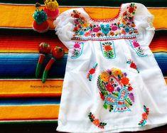 Renata Mexican Embroidered Fiesta Baby Dress by MexicanartDesigns Source by Mexican Fiesta Dresses, Mexican Outfit, Mexican Baby Dress, Toddler Outfits, Kids Outfits, Cute Outfits, Baby Outfits, Little Girl Fashion, Kids Fashion
