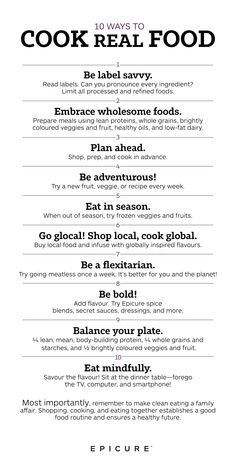 Don't let life get in the way of your health! Eating #clean can be easy with some simple goals in mind, plus wholesome real foods and spice blends that elevate taste. Get started with our 10 Ways to Cook Real Food!