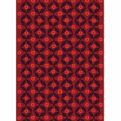Marimekko Poppy Red Sateen Fabric Unikko may be Maija Isola's most well-known poppy design, but the Marimekko Poppy Red Sateen Fabric embraces the artistic value of the flower in a new way. Printed in Finland on cotton sateen, the. Marimekko Fabric, Poppy Red, Modern Fabric, Red Poppies, Finland, Rugs, Artist, Prints, Design