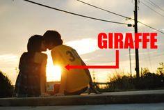 Real love= when you make a giraffe