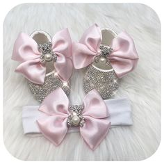 Teddy Bear Crystals Shoes and Headband Bling Baby Shoes, Baby Bling, Newborn Gifts, Baby Gifts, Baby Accessories, Fashion Accessories, Baby Christmas Gifts, Crystal Shoes, Baby Boutique