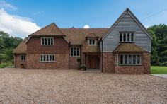 Sussex Manor - Border Oak - oak framed houses, oak framed garages and structures. House Extension Plans, Cottage Extension, House Extension Design, House Design, Home Building Design, Building A House, Building Ideas, Bungalow Conversion, House Cladding