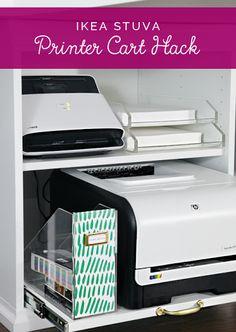 IKEA STUVA Printer Cart Hack  IHeart Organizing