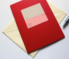"Paint Chip Pairing Card - ""Whirlwind / Love Affair"" by Word for Word greetings  $5.00"