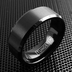 Beautiful tungsten ring with brushed finish highlighted by chamfered edges. The chamfered edges glistens just enough to be noticeable. Available in men's and women's sizes. Perfect for couples.  Being Sold By The Set ◦Laser engraving can add up to 2 ...