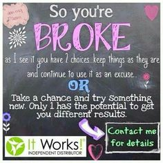 Get started today! Contact me at nearmelinda.myitworks.com