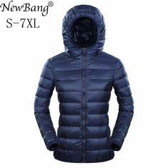 Discount Today $25.29, Buy NewBang Brand Womens Down Jackets Ultra Light Down Jacket Women 5XL 6XL 7XL Plus Feather Winter Thin Warm Windbreaker Coats
