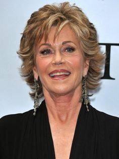 Short Hair Styles For Women Over 50 | Jane Fonda Hairstyle for Women Over 50 / via