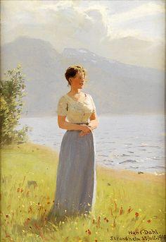 """""""STRANDHEIM"""" JULY 27, 1910 Artist: Hans Dahl (1849-1937)"""
