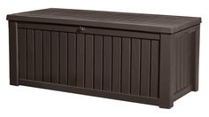 Keter Rockwood Plastic Deck Storage Container Box Outdoor Patio Garden Furniture 150 Gal, Brown Description The attractive, multifunctional design of the Keter Porch Garden, Garden Yard Ideas, Garden Tools, Plastic Container Storage, Storage Containers, Garden Furniture, Outdoor Furniture, Outdoor Decor, Loft Furniture