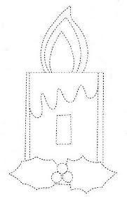 Resultado de imagen para moldes de velas navideñas en foami