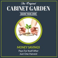 Cabinet Garden™ Saves You Money. Pays for itself after just one harvest. #hydroponic Home Growing Solution. #hydroponics #aeroponics #superponics #homegrow #homegrown #urbanfarmer #urbanfarm #urbanfarming #diy #doityourself #farmtotable #growyourown #growyourownfood #organic #eatwhatyougrow #vegetables #herbs #fruit #germination #plants #instagardenlovers #instagarden #grow #hydro #growbox #growroom #growcabinet #growcloset #CabinetGarden