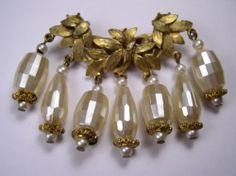 Joseph Morton for Miriam Haskell Brooch Pin | eBay