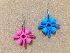 quilling earrings authentic , using quilling mould & sweker