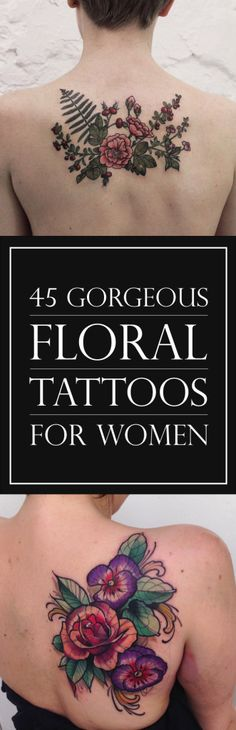 45 Gorgeous Floral Tattoos for Women | TattooBlend