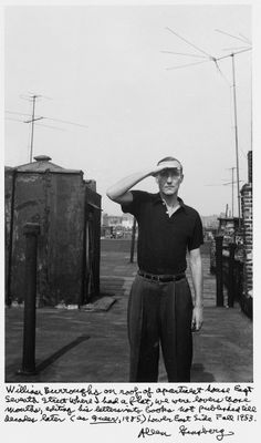 William Burroughs, Photography by Allen Ginsberg, 1953.